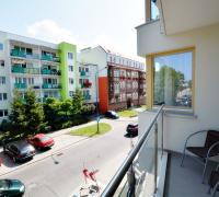 Widok z okien na ul. Sikorskiego